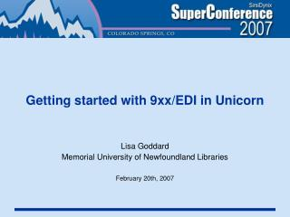 Getting started with 9xx/EDI in Unicorn