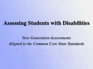 Assessing Students with Disabilities