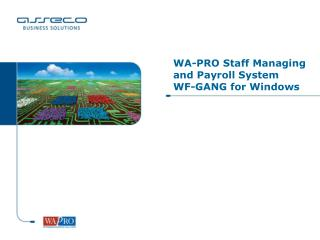 WA-PRO Staff Managing and Payroll System  WF-GANG for Windows