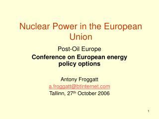 Nuclear Power in the European Union