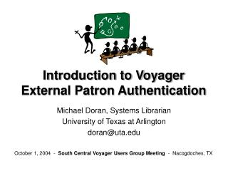 Introduction to Voyager External Patron Authentication