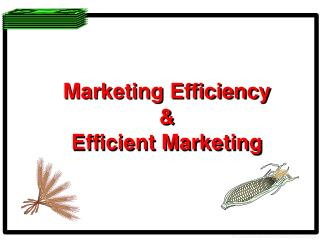 Marketing Efficiency & Efficient Marketing