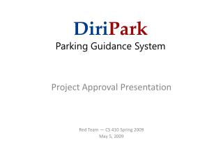 Diri Park Parking Guidance System