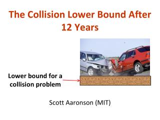 The Collision Lower Bound After 12 Years