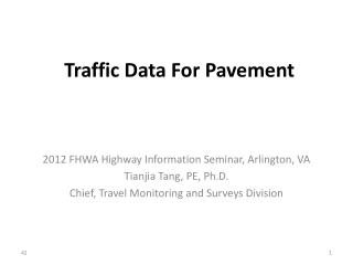 Traffic Data For Pavement