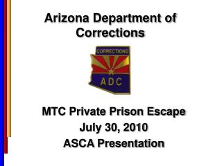 Arizona Department of  Corrections