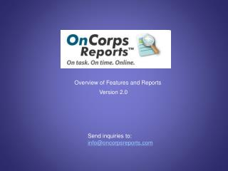 Overview of Features and Reports