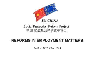 REFORMS IN EMPLOYMENT MATTERS Madrid, 28 October 2015