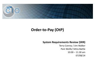Order-to-Pay ( OtP )