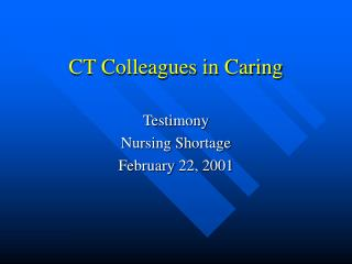 CT Colleagues in Caring