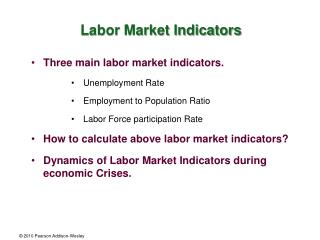 Labor Market Indicators