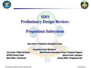 SDO Preliminary Design Review: Propulsion Subsystem