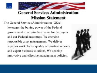 General Services Administration Mission Statement