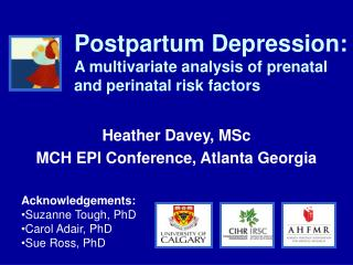 Postpartum Depression: A multivariate analysis of prenatal and perinatal risk factors