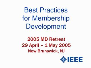 Best Practices for Membership Development