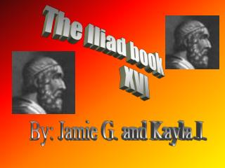 The Iliad book              XVI