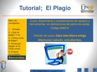 Tutorial;  El Plagio