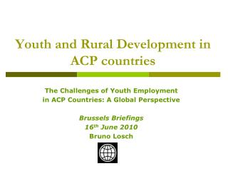 Youth and Rural Development in ACP countries