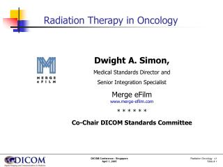 Radiation Oncology   v1         Slide #  1