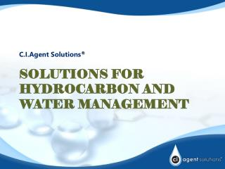 Solutions for Hydrocarbon and Water Management