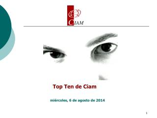 Top Ten de Ciam