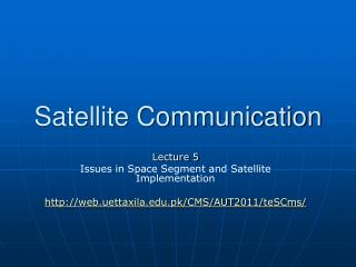 Satellite Communication