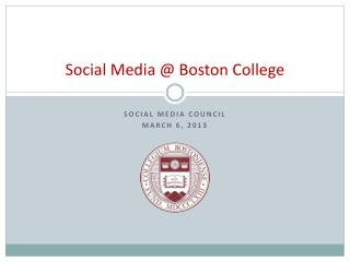 Social Media @ Boston College