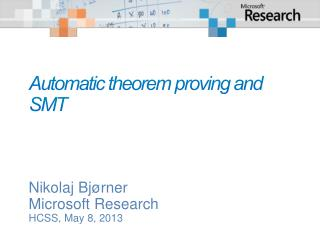Automatic theorem proving and  SMT