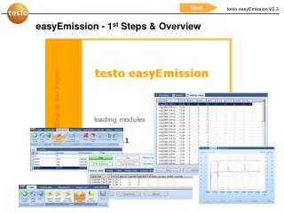easyEmission - 1 st  Steps & Overview