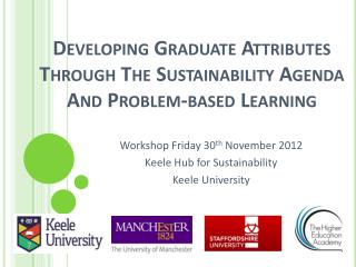 Developing Graduate Attributes Through The Sustainability Agenda And Problem-based Learning