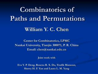 Combinatorics of  Paths and Permutations
