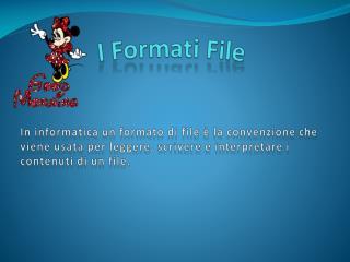I Formati File
