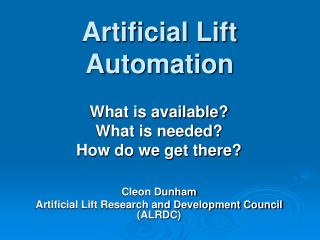 Artificial Lift Automation