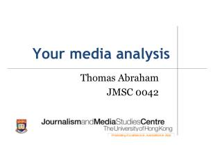 Your media analysis