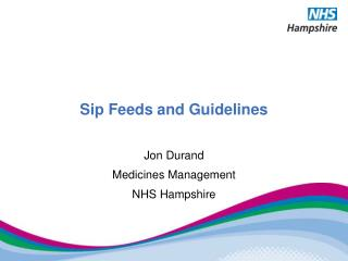Sip Feeds and Guidelines