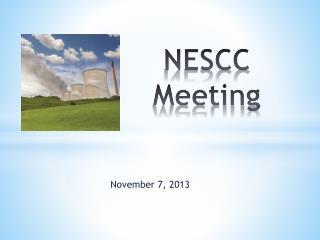 NESCC Meeting