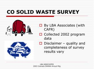 CO SOLID WASTE SURVEY