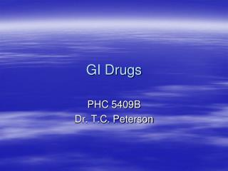 GI Drugs