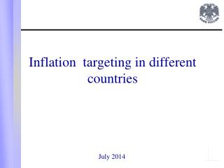 Inflation  targeting in different countries