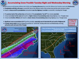 Accumulating Snow Possible Tuesday Night and Wednesday Morning