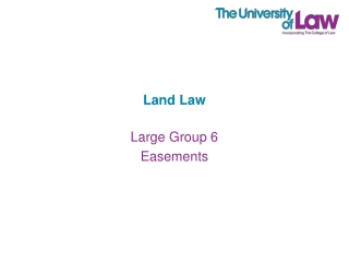 Implied Easements  Easements by Necessity