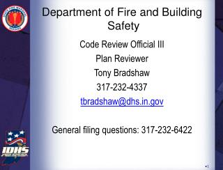 Department of Fire and Building  Safety