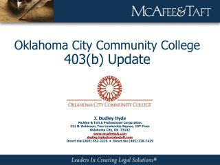 Oklahoma City Community College  403(b) Update