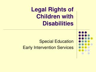 Legal Rights of Children with Disabilities