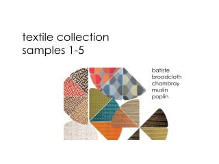 textile collection samples 1-5