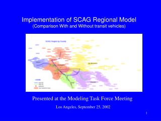Implementation of SCAG Regional Model