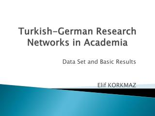 Turkish-German  Research  Networks in Academia