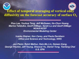 Effect of temporal averaging of vertical eddy diffusivity on the forecast accuracy of surface O 3
