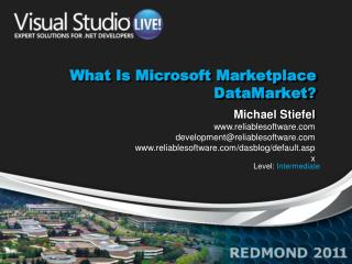 What  Is Microsoft Marketplace  DataMarket ?