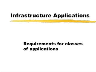 Infrastructure Applications